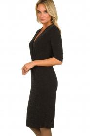 Set |  Shimmering lurex dress Sas | black  | Picture 4