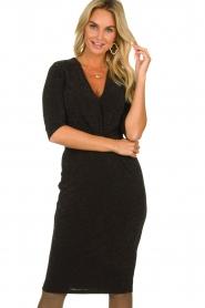 Set |  Shimmering lurex dress Sas | black  | Picture 2