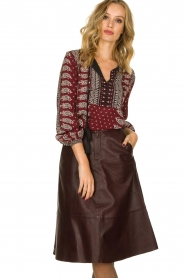 Set |  Printed blouse Catharina | bordeaux  | Picture 2
