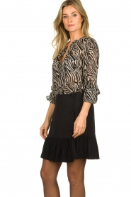 Set |  Animal print blouse Gaby | black & white  | Picture 4