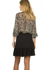 Set |  Animal print blouse Gaby | black & white  | Picture 5