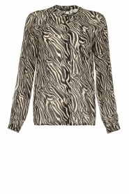 Set |  Animal print blouse Gaby | black & white  | Picture 1
