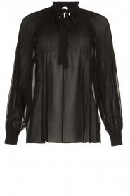 Set |  Plisse blouse Jaq | black  | Picture 1