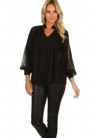 Set |  Plisse blouse Jaq | black  | Picture 4