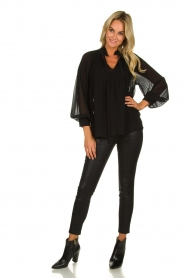 Set |  Plisse blouse Jaq | black  | Picture 3