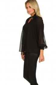 Set |  Plisse blouse Jaq | black  | Picture 5