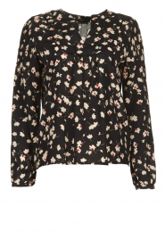 Set |  Blouse with floral print Koy | black  | Picture 1