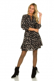 Set |  Blouse with floral print Koy | black  | Picture 3