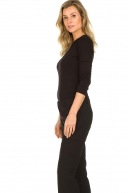 Set |  Top with see-through detail Ziva | black  | Picture 4
