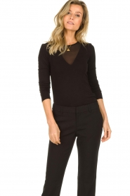 Set |  Top with see-through detail Ziva | black  | Picture 2