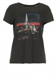 Set |  Cotton t-shirt with print Paris | black  | Picture 1