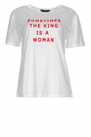 Set |  Cotton T-shirt with text print King | white  | Picture 1