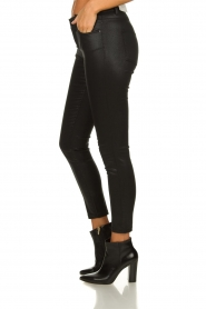 Set |  Coated skinny jeans Mena | black  | Picture 4