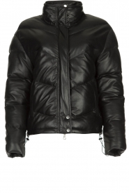 Set |  Leather down jacket Juliet | black  | Picture 1