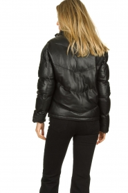 Set |  Leather down jacket Juliet | black  | Picture 6