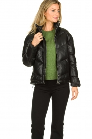 Set |  Leather down jacket Juliet | black  | Picture 2