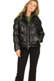 Set |  Leather down jacket Juliet | black  | Picture 4