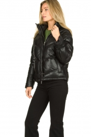 Set |  Leather down jacket Juliet | black  | Picture 5