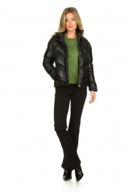 Set |  Leather down jacket Juliet | black  | Picture 3