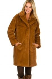 Set |  Faux fur coat Styn | brown  | Picture 2