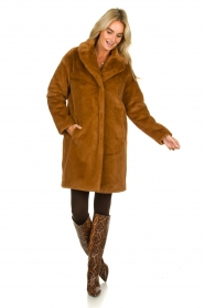 Set |  Faux fur coat Styn | brown  | Picture 7