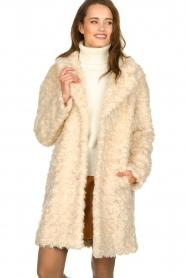 Set |  Faux fur coat Lizzy | off-white  | Picture 6