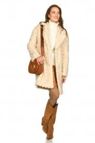 Set |  Faux fur coat Lizzy | off-white  | Picture 3