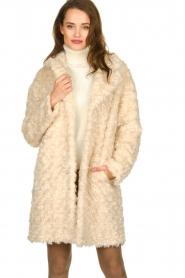 Set |  Faux fur coat Lizzy | off-white  | Picture 2