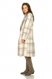 Set |  Checkered coat Katie | off-white  | Picture 4