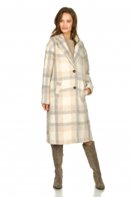 Set |  Checkered coat Katie | off-white  | Picture 2