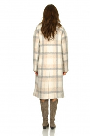 Set |  Checkered coat Katie | off-white  | Picture 5