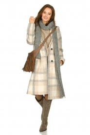 Set |  Checkered coat Katie | off-white  | Picture 3