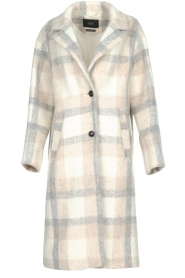 Set |  Checkered coat Katie | off-white  | Picture 1