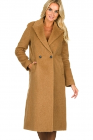 Set |  Woolen coat Mirthe | brown  | Picture 3