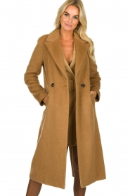 Set |  Woolen coat Mirthe | brown  | Picture 4