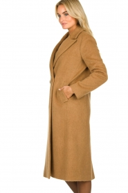 Set |  Woolen coat Mirthe | brown  | Picture 5