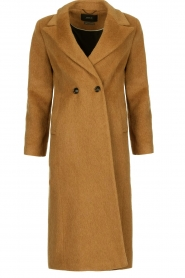 Set |  Woolen coat Mirthe | brown  | Picture 1