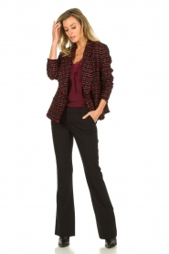 Set |  Bouclé blazer Ellen | black  | Picture 3