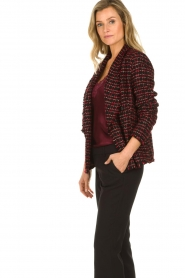Set |  Bouclé blazer Ellen | black  | Picture 5