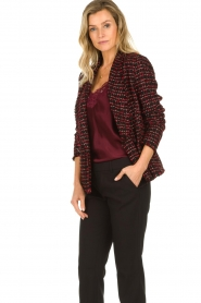 Set |  Bouclé blazer Ellen | black  | Picture 2