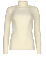 Set |  Merino woolen turtle neck sweater Julia | natural  | Picture 1