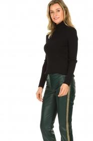 Set |  Merino woolen turtle neck sweater Julia | natural  | Picture 5