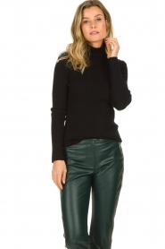 Set |  Merino woolen turtle neck sweater Julia | natural  | Picture 2