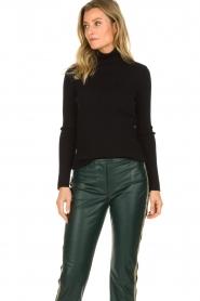 Set |  Merino woolen turtle neck sweater Julia | natural  | Picture 4