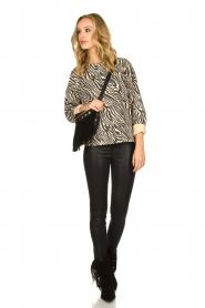 Set |  Zebra printed sweatshirt Yessie | animal print  | Picture 3