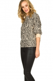 Set |  Zebra printed sweatshirt Yessie | animal print  | Picture 4