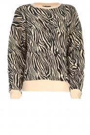 Set |  Zebra printed sweatshirt Yessie | animal print  | Picture 1