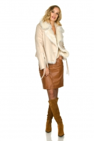 Set |  Knitted V-neck sweater Nicki | beige  | Picture 3