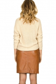 Set |  Knitted V-neck sweater Nicki | beige  | Picture 5