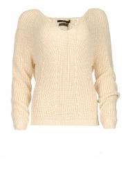 Set |  Knitted V-neck sweater Nicki | beige  | Picture 1